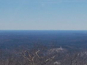 The Boston Skyline from Pack Monadnock Miller State Park Peterborough NH Wapack Trail